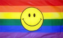 RAINBOW SMILEY - 5 X 3 FLAG